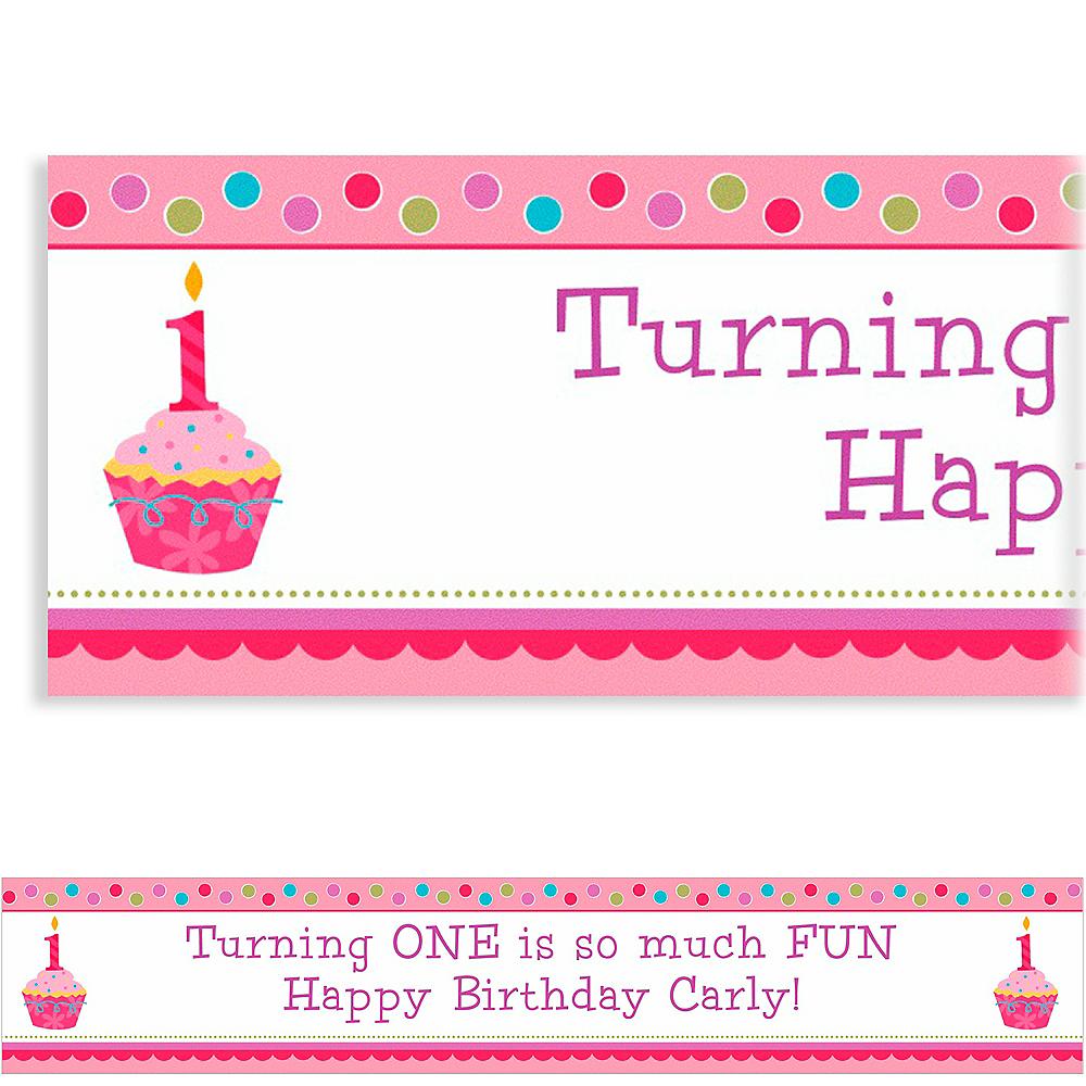 Custom Sweet Little Cupcake Girl Banner 6ft Image #1