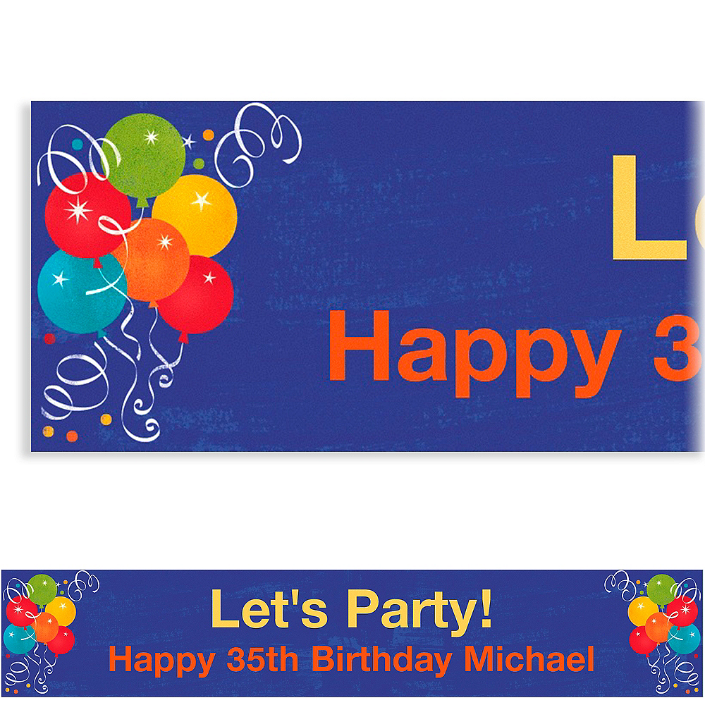 Custom Birthday Fever Banner 6ft Image #1