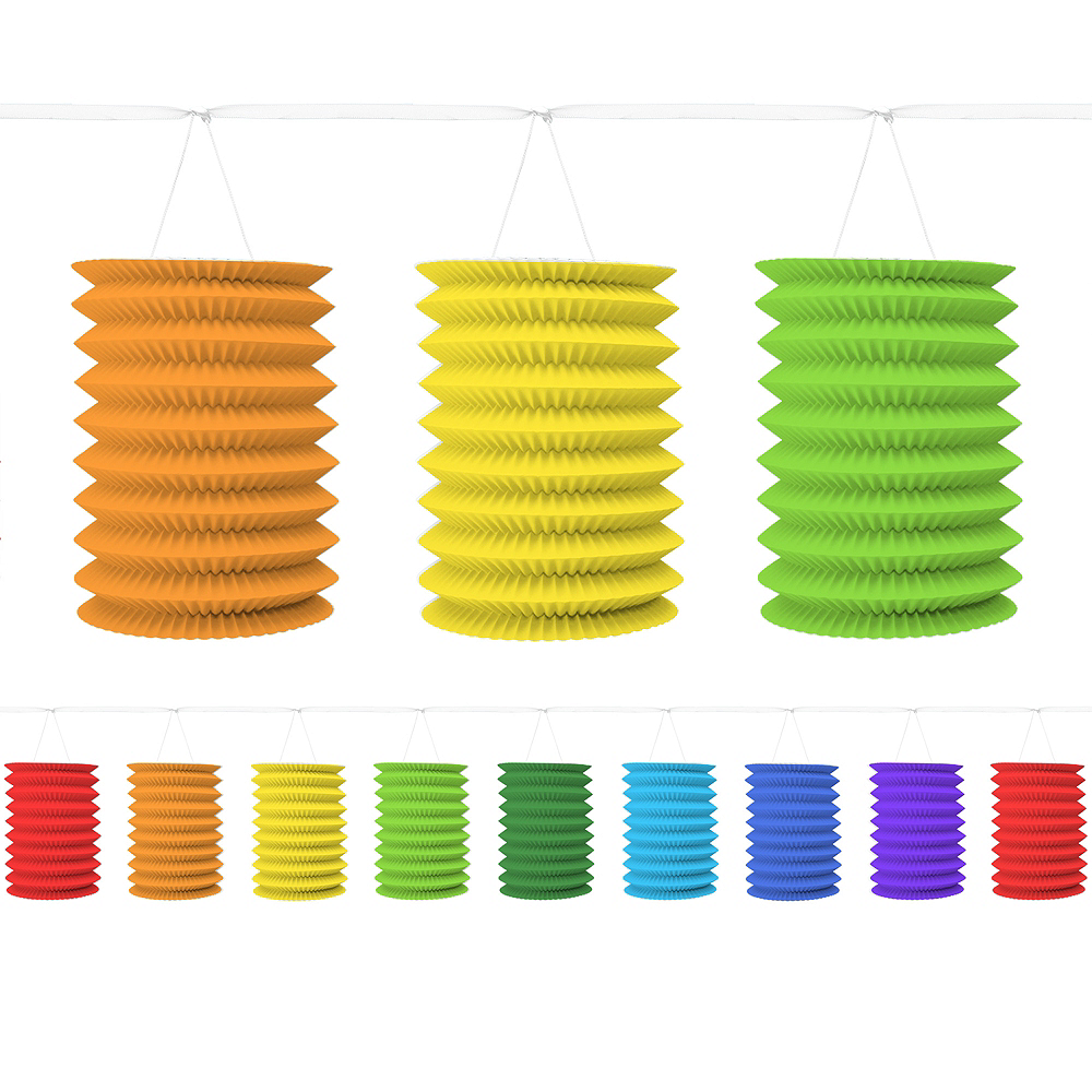 Rainbow Lantern Garland Image #1