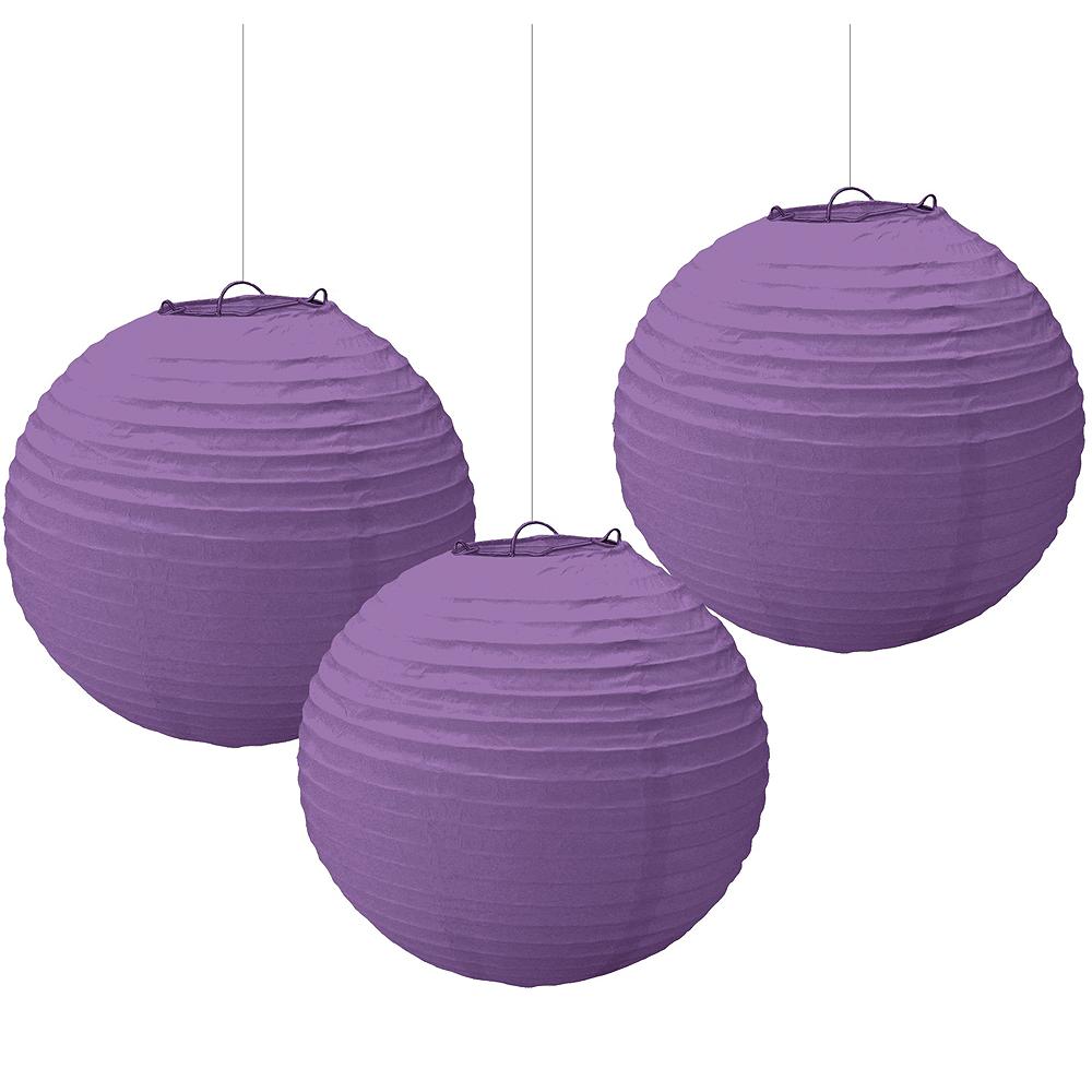 Purple Paper Lanterns 3ct Image #1