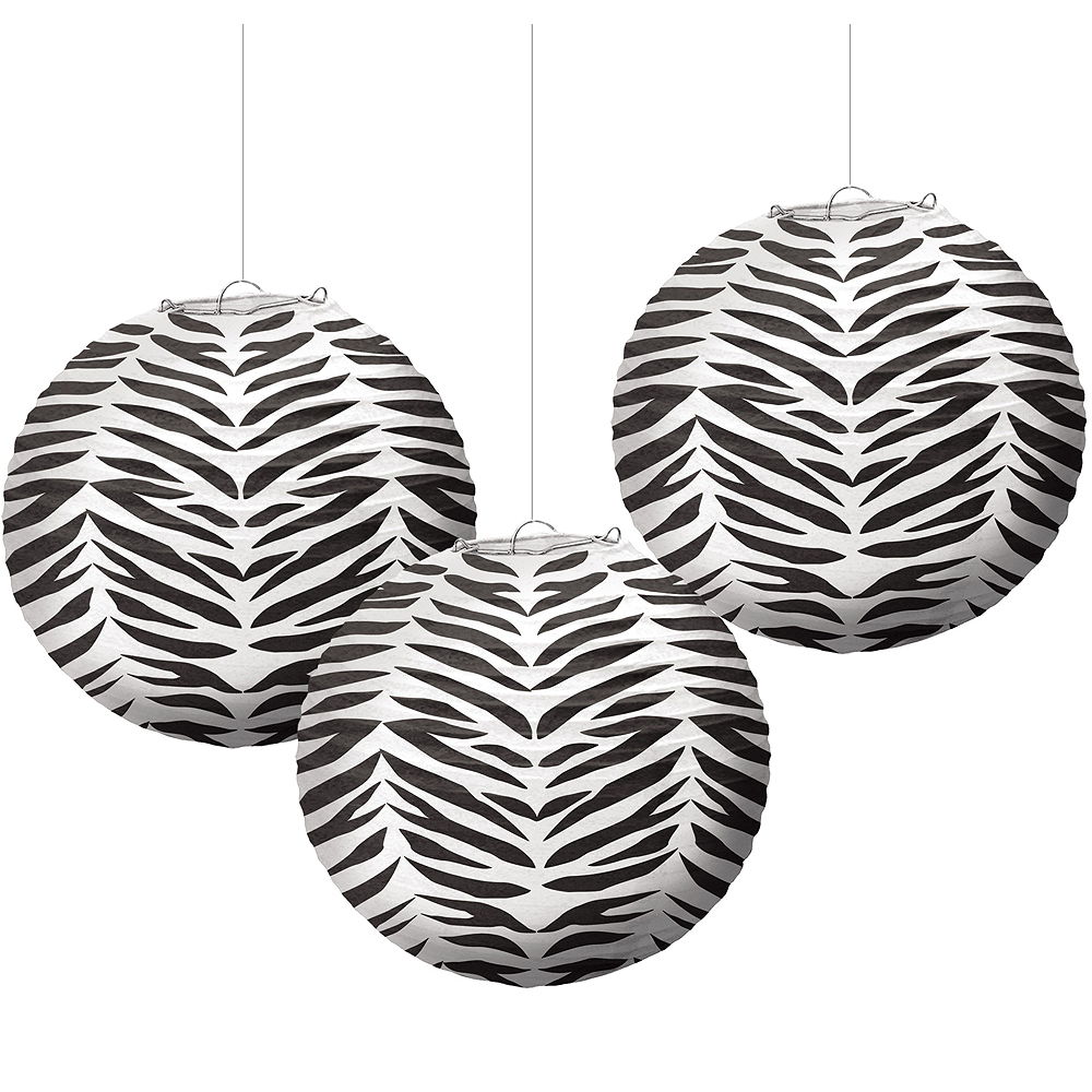 Nav Item for Zebra Paper Lanterns 3ct Image #1