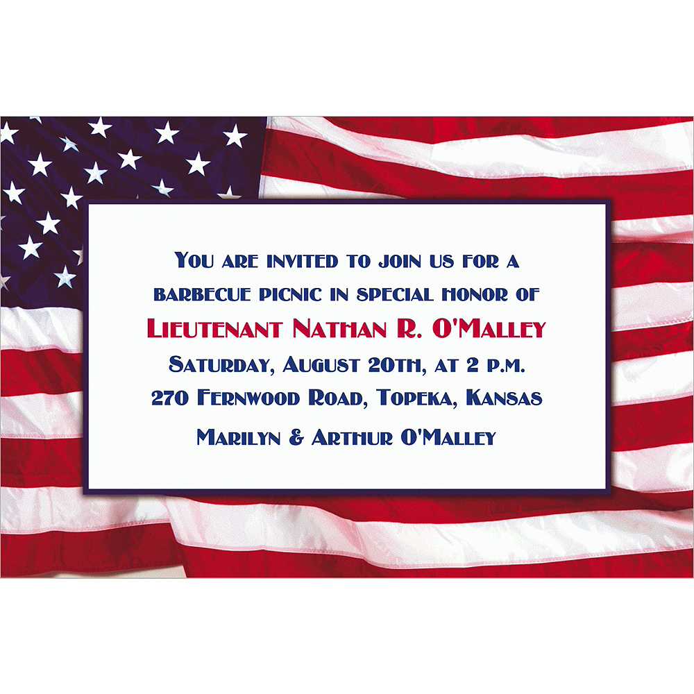 Custom Flying Colors Welcome Home Invitations  Image #1