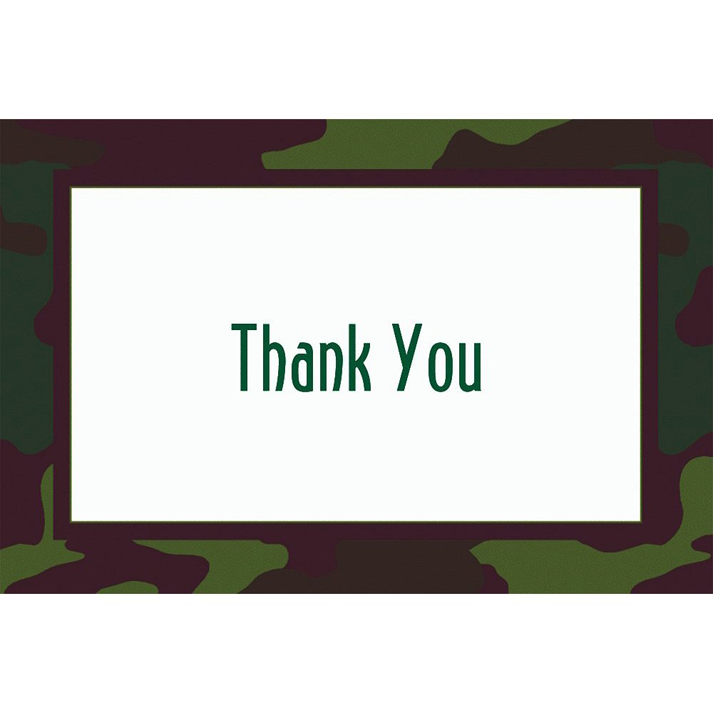 Custom Camouflage Welcome Home Thank You Notes Image #1