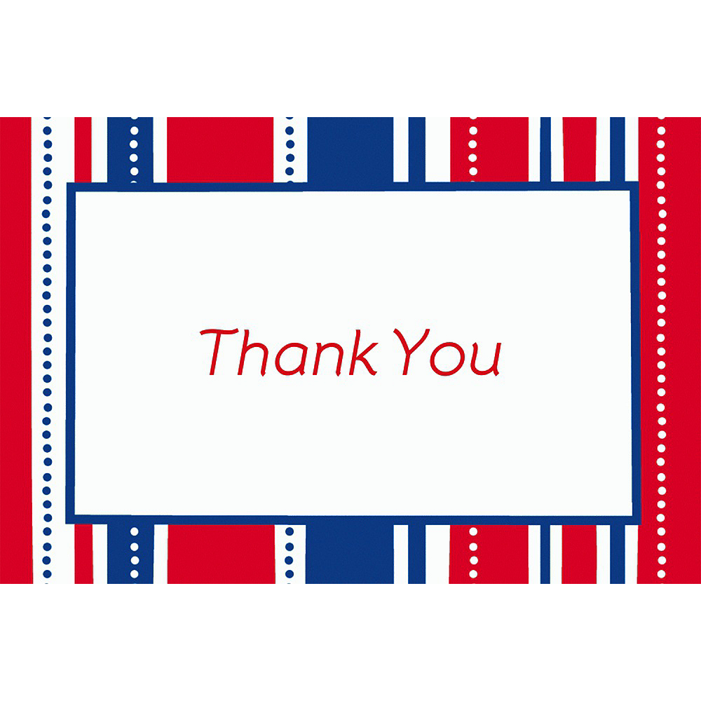 Custom American Summer Stripes Welcome Home Thank You Notes Image #1