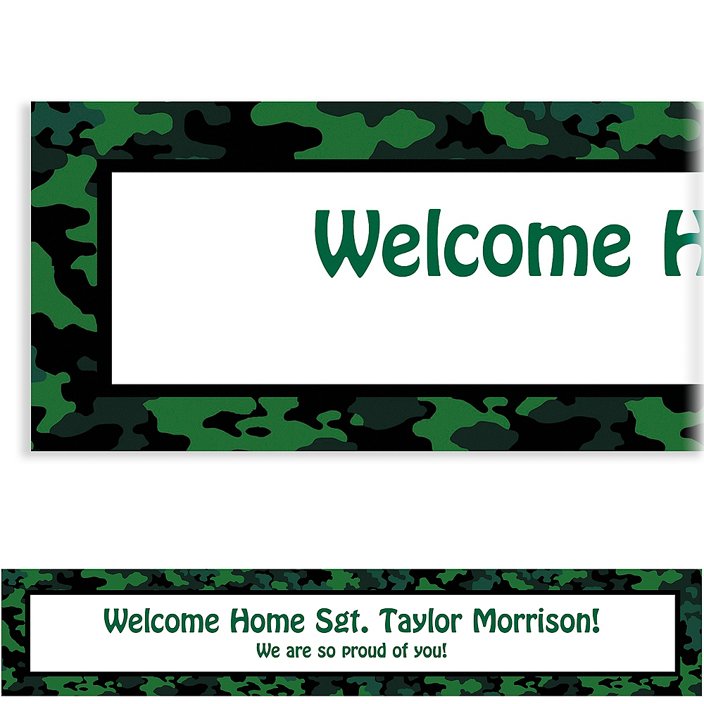 Custom Camouflage Welcome Home Banner 6ft Image #1