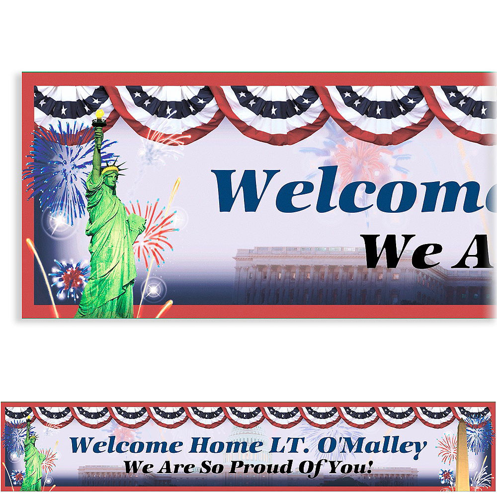 Custom Flying Colors Welcome Home Banner 6ft Image #1