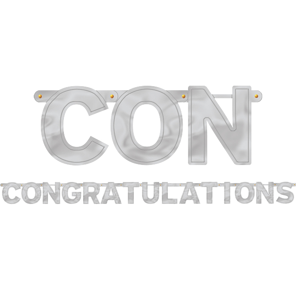 Silver Congratulations Letter Banner Image #1