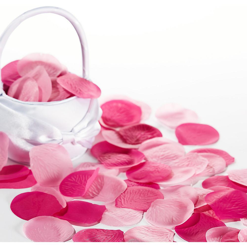 Bright Pink Rose Petals 300ct | Party City