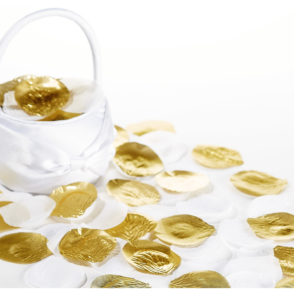 Gold & White Rose Petals 300ct Image #1