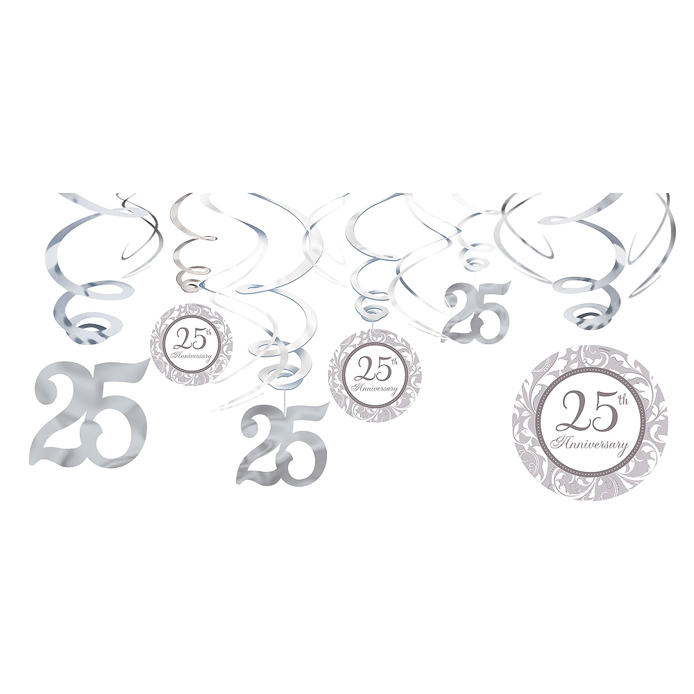 25th Anniversary Swirl Decorations 12ct Image #1