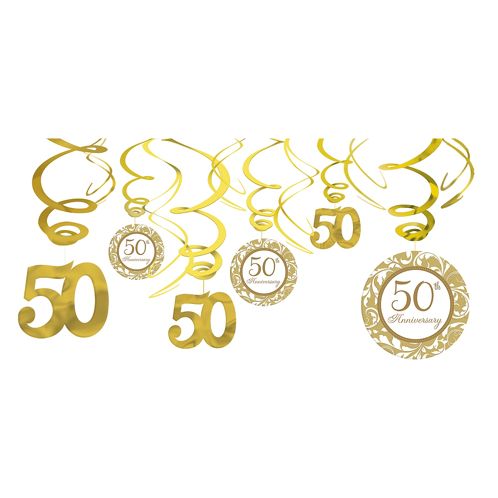 50th Anniversary Swirl Decorations | Party City