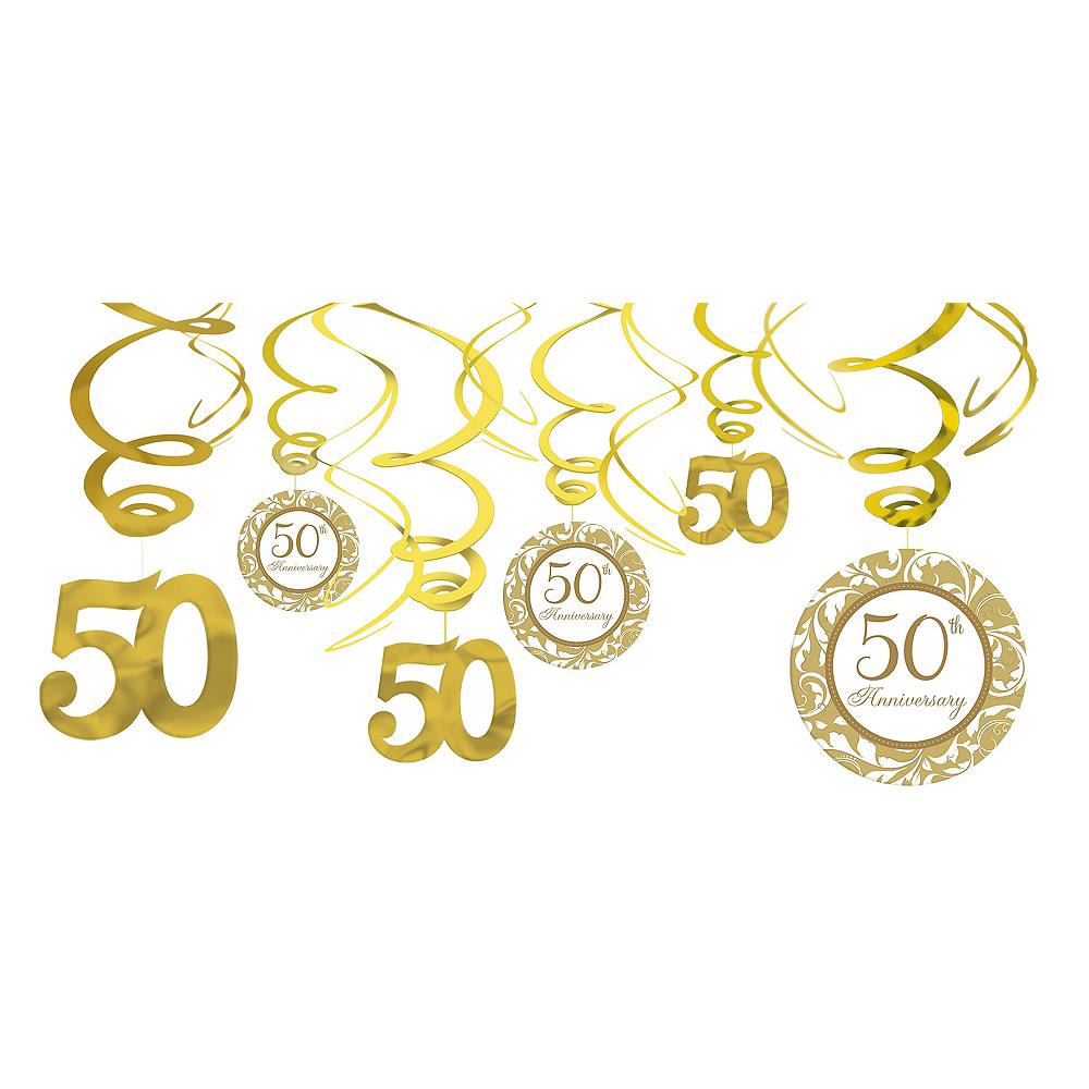50th Anniversary Swirl Decorations 12ct Image #1