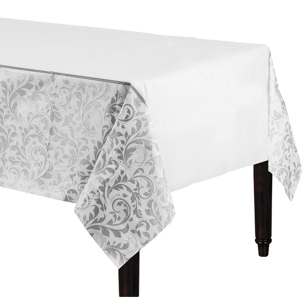 Silver Wedding Table Cover Image #1