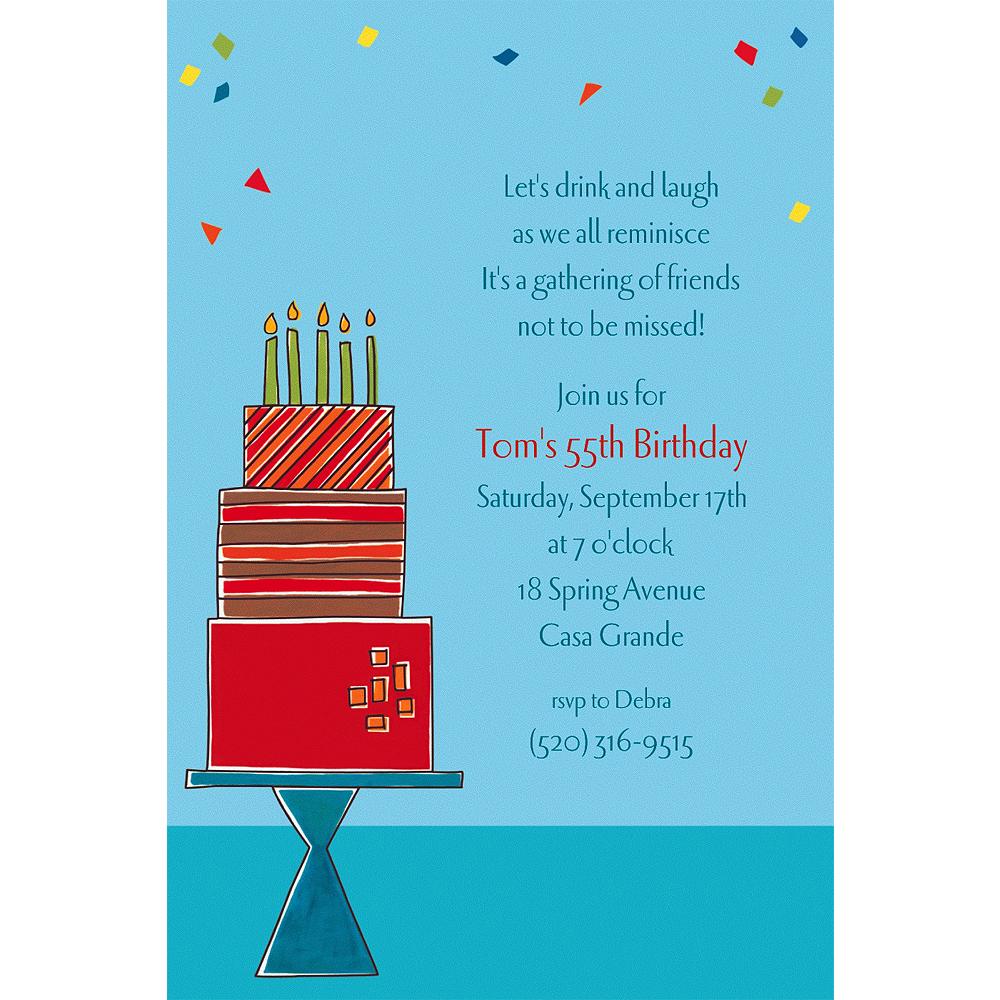 Custom Fetching Birthday Cake Invitations Image #1