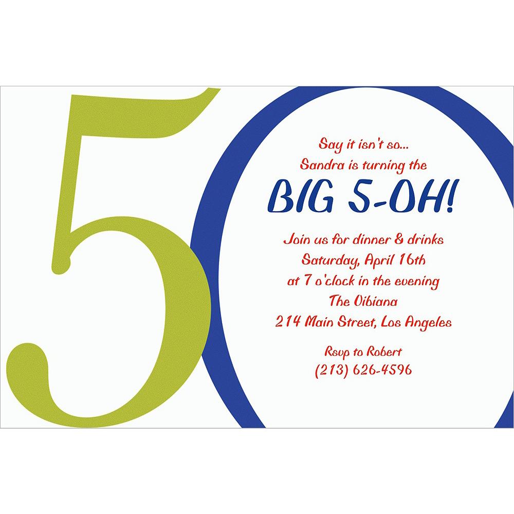 Custom Great Big 50th Invitations Image #1