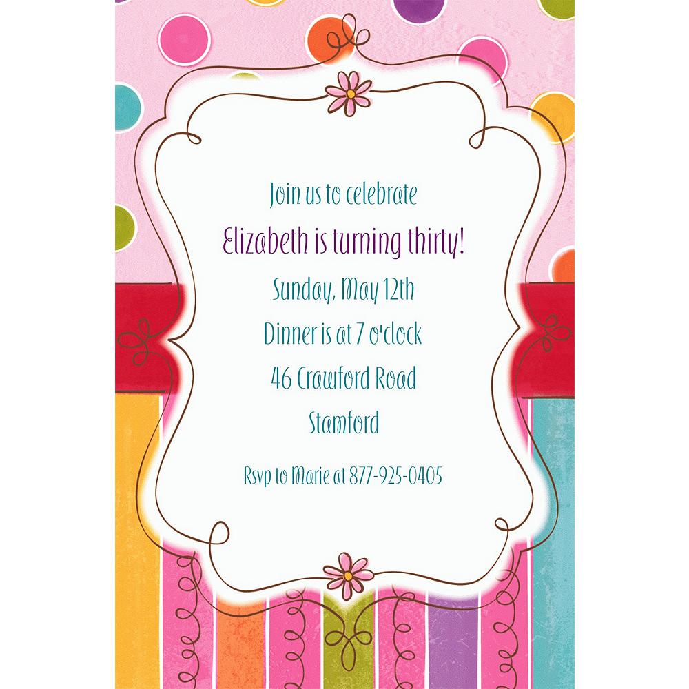 Custom Sweet Stuff Invitations Image #1