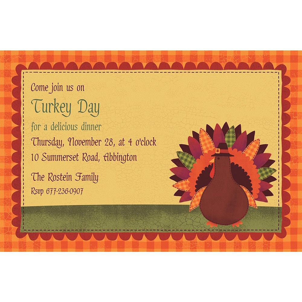 Custom Turkey Dinner Invitations Image #1