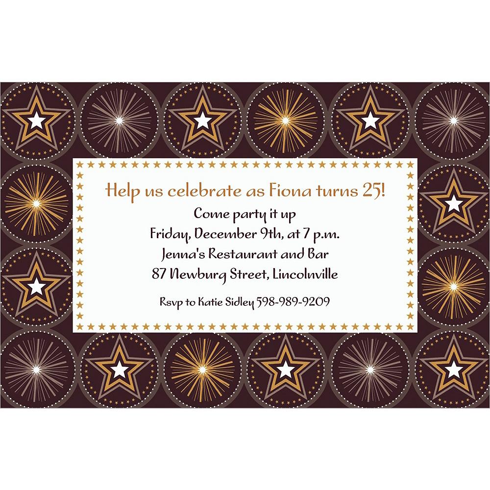 Custom Glitter Starz Invitations Image #1