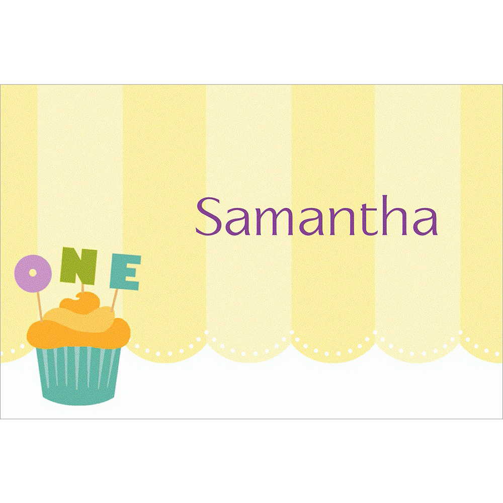Custom Lined Up Cupcakes Thank You Notes Image #1