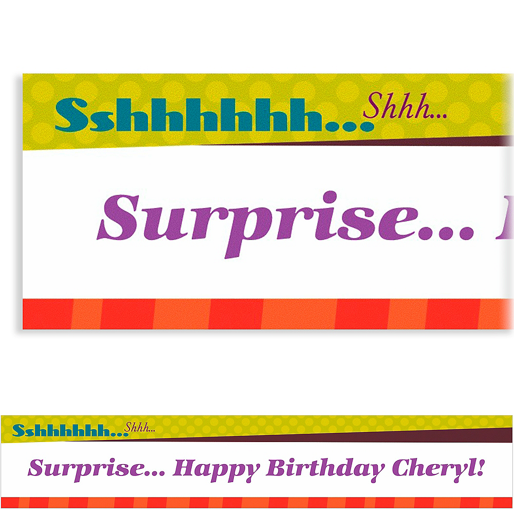 Custom Big Sshhh Surprise Party Banner 6ft Image #1