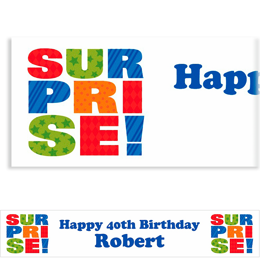 Custom Surprise Block Banner 6ft Image #1