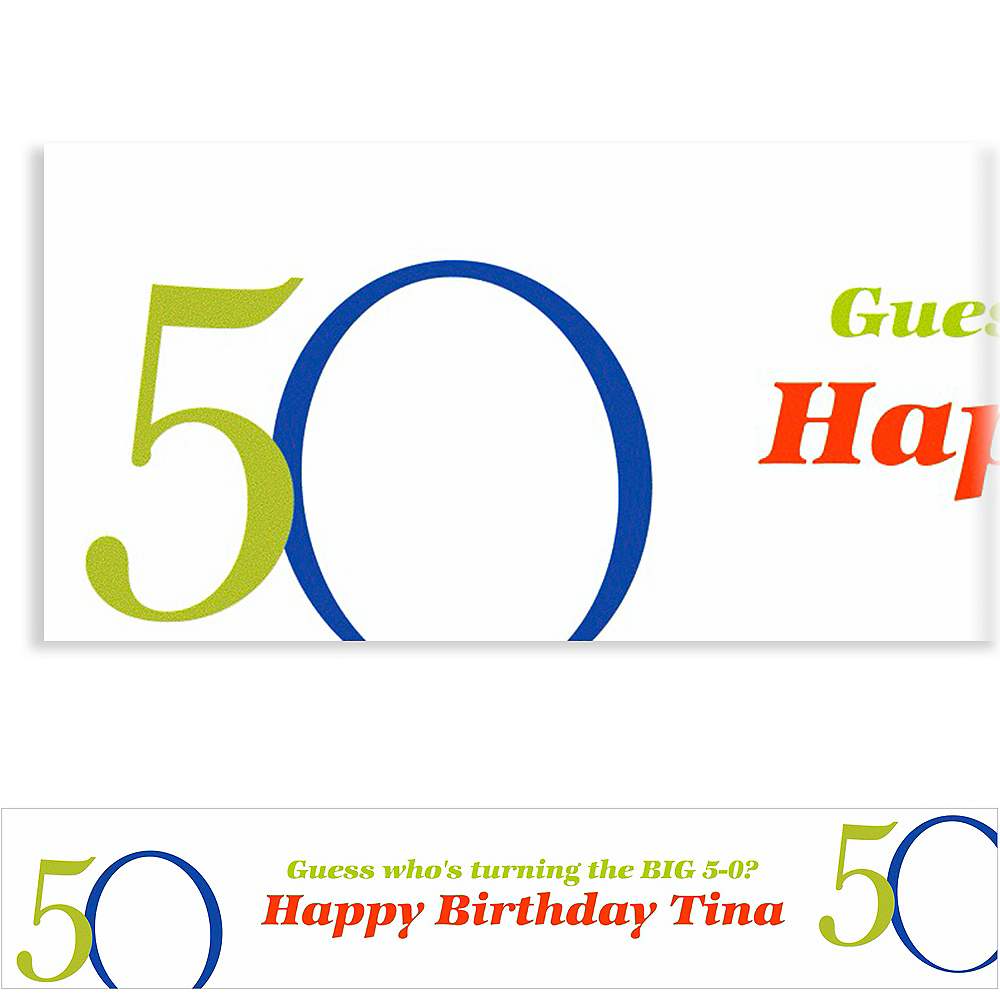 Custom Great Big 50th Banner 6ft Image #1