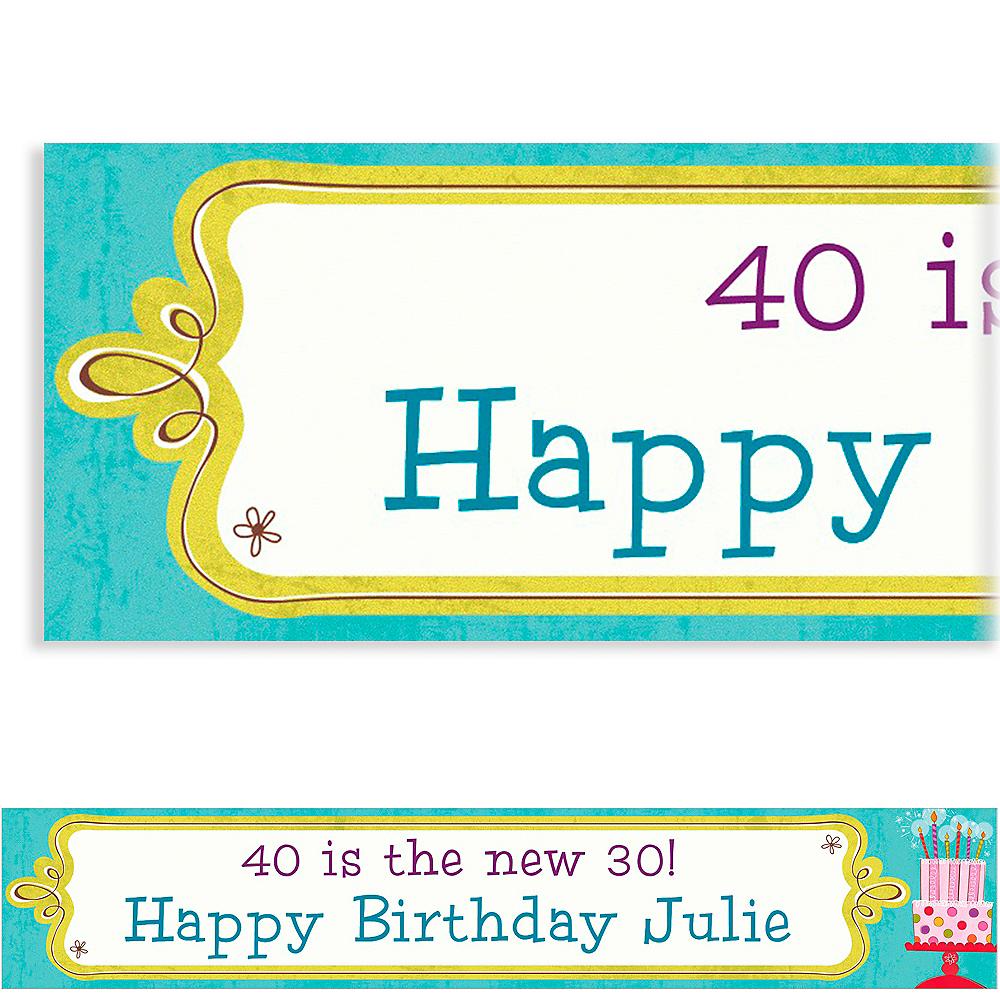Custom Sweet Stuff Birthday Banner 6ft Image #1