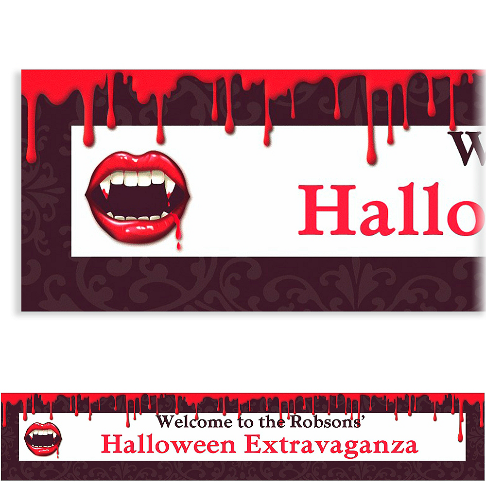 Custom Fangtastic Halloween Banner 6ft Image #1