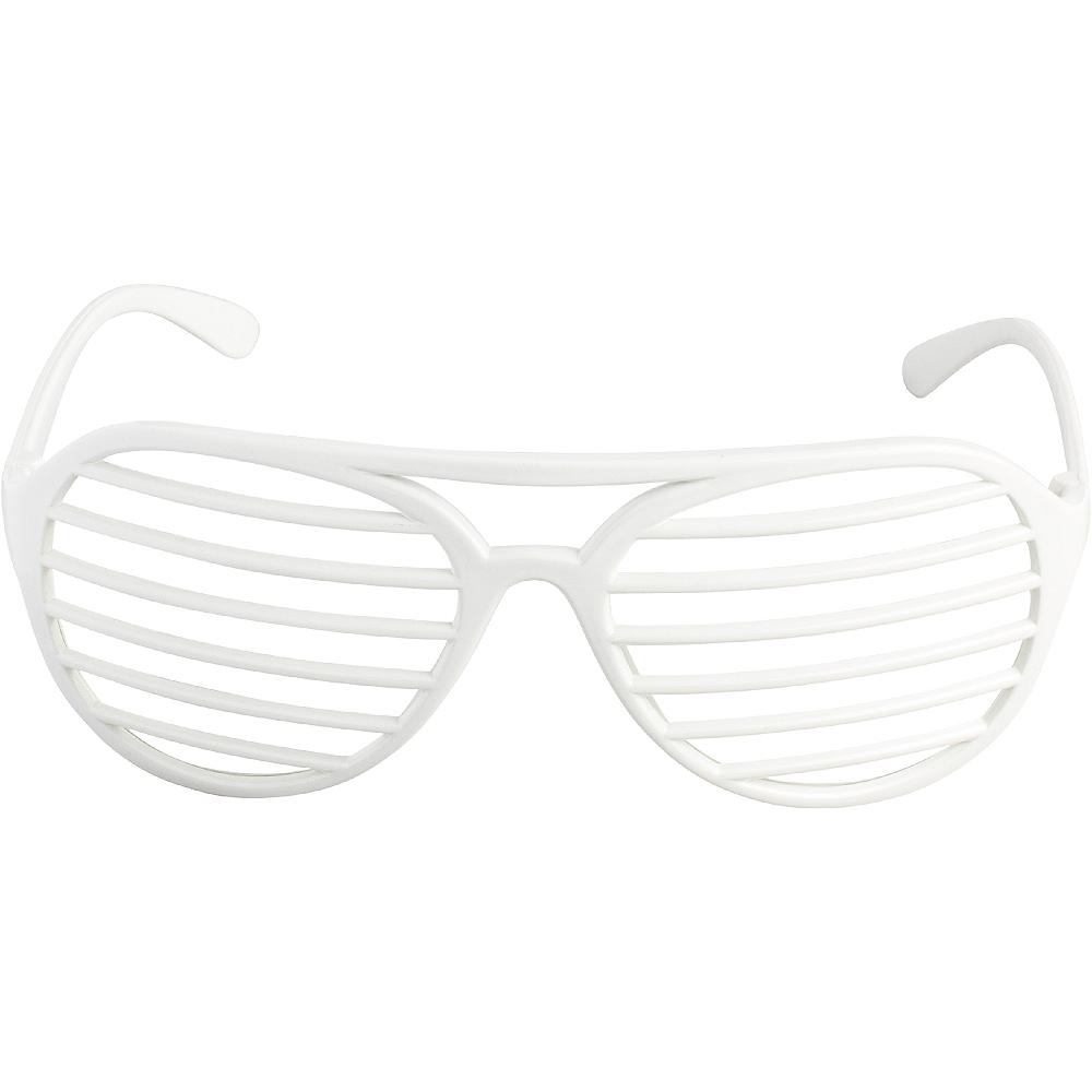 White Shutter Glasses Image #1