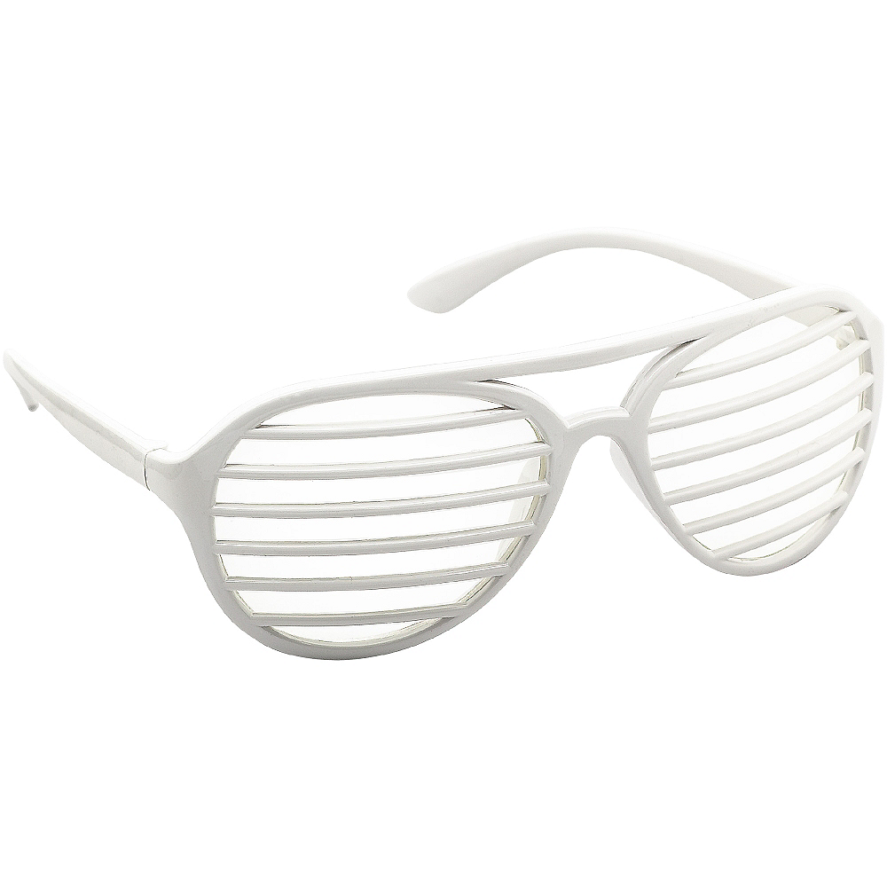 White Shutter Glasses Image #2