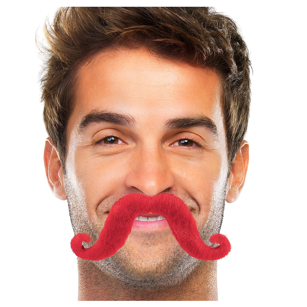 Red Handlebar Moustache Image #1