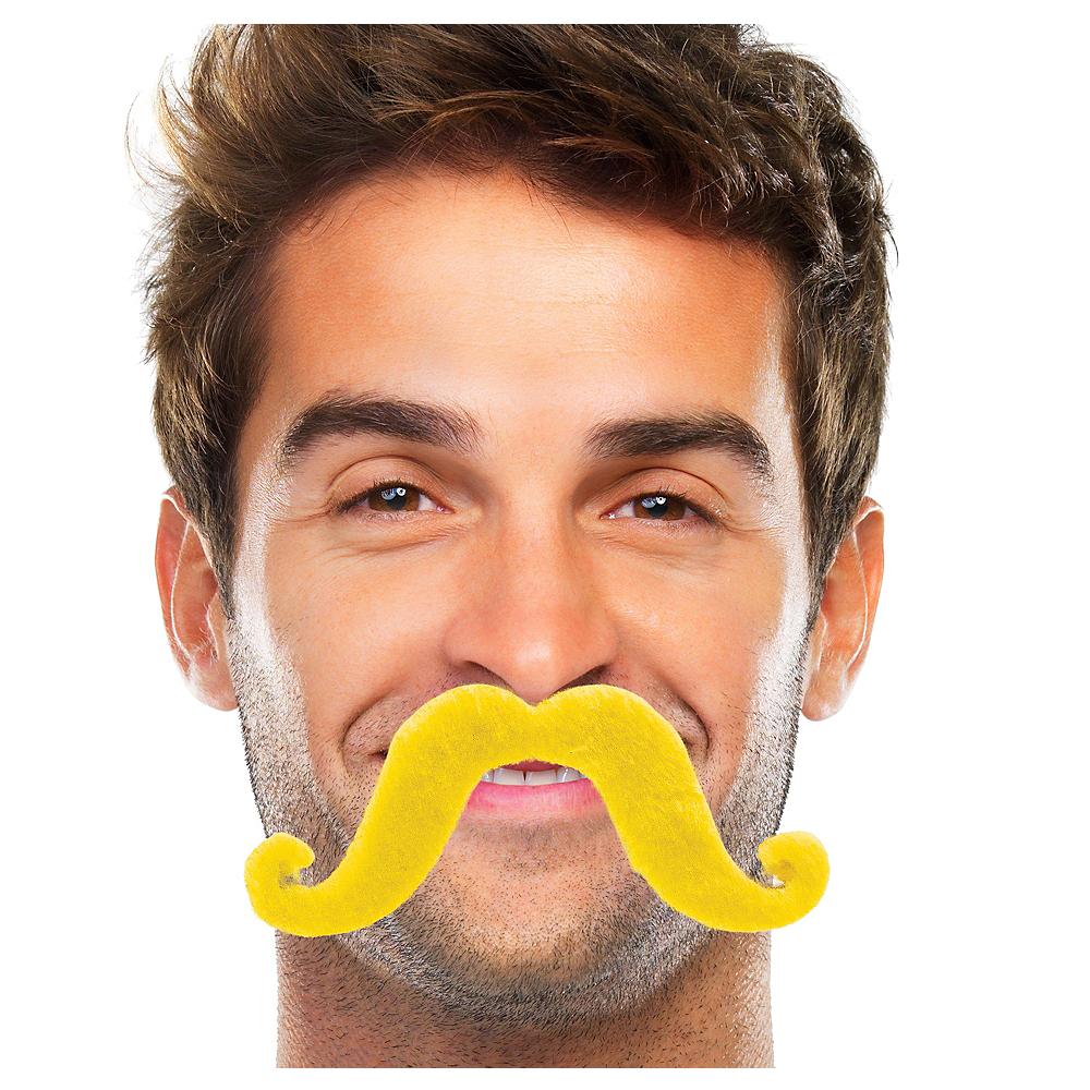 Yellow Handlebar Moustache Image #1