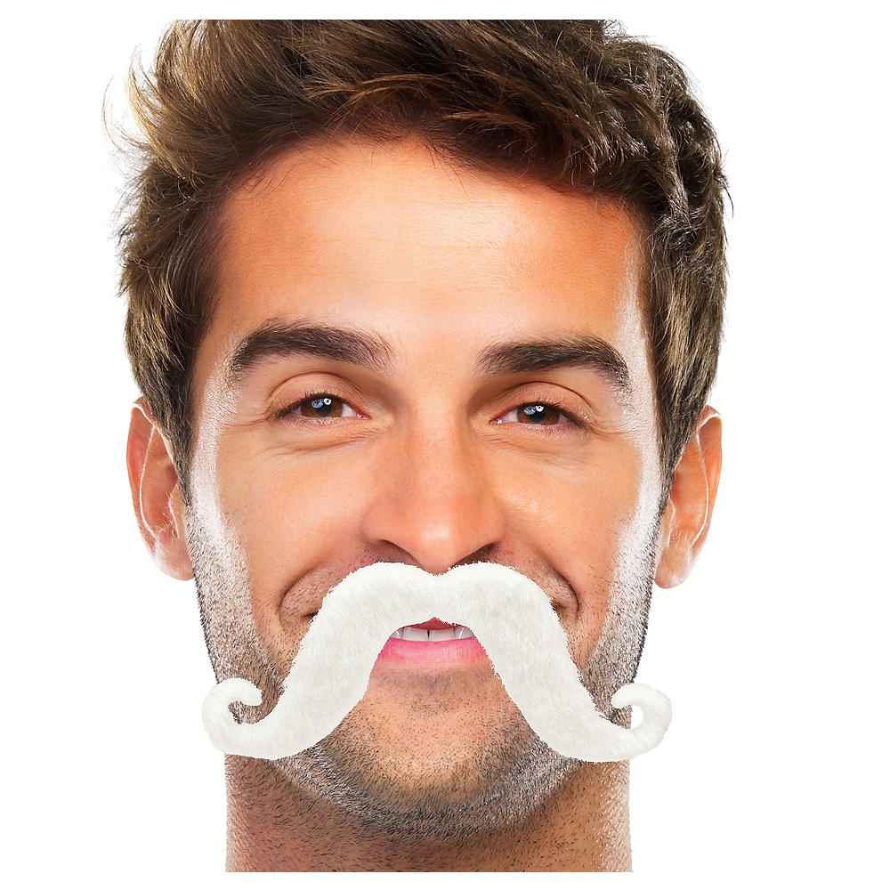 White Handlebar Moustache Image #1