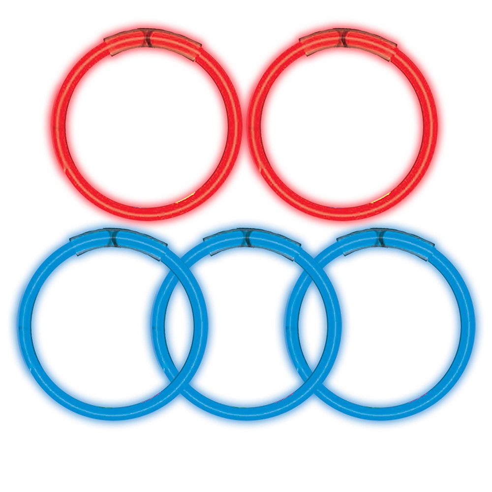 Nav Item for Red & Blue Glow Sticks 5ct Image #1