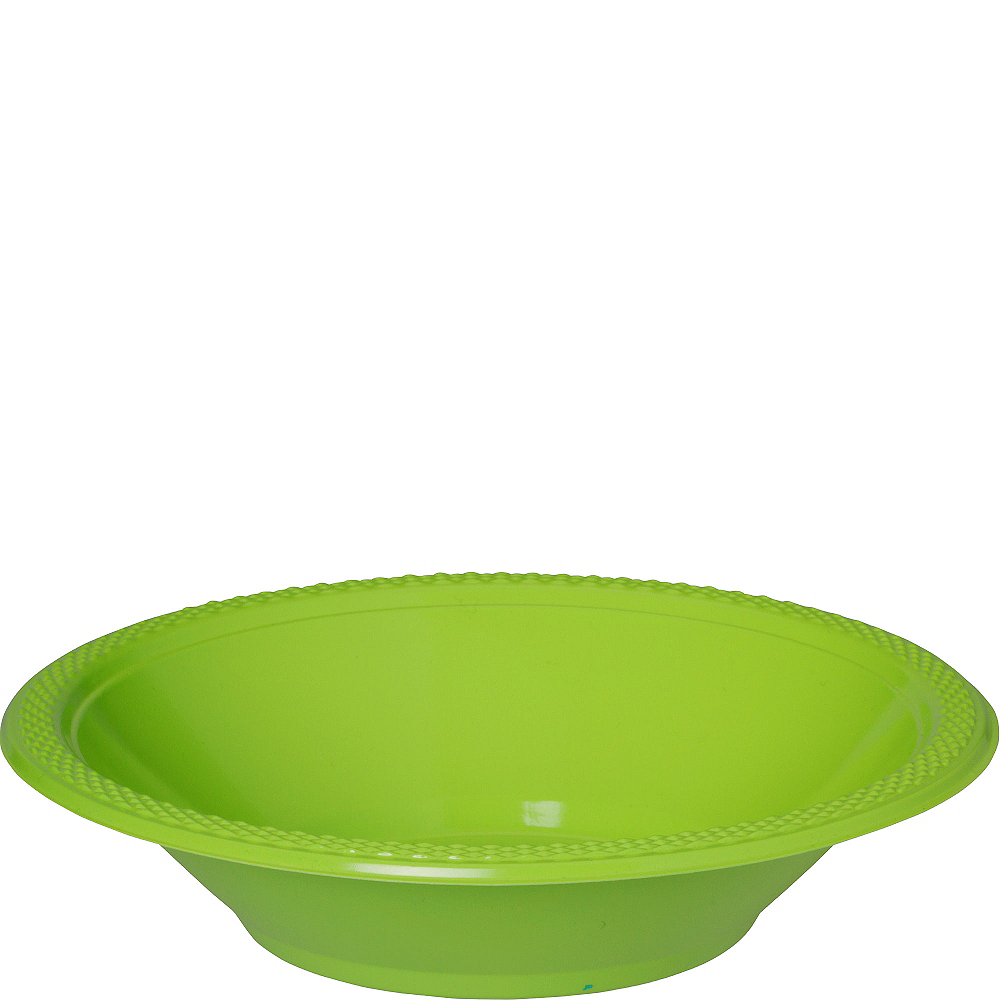 Nav Item for Kiwi Green Plastic Bowls 20ct Image #1