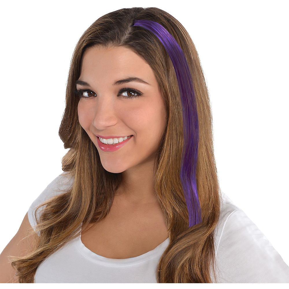 Purple Hair Extension 15in Party City
