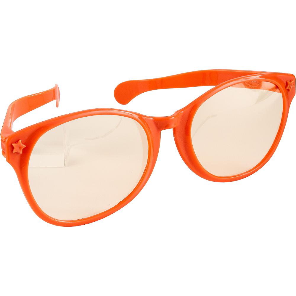 Orange Giant Fun Glasses Image #2