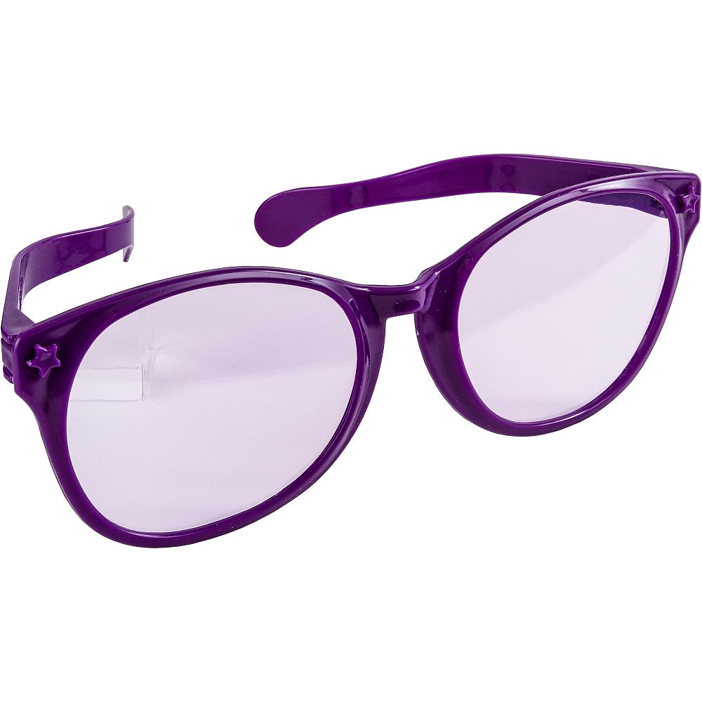 Purple Giant Fun Glasses Image #2