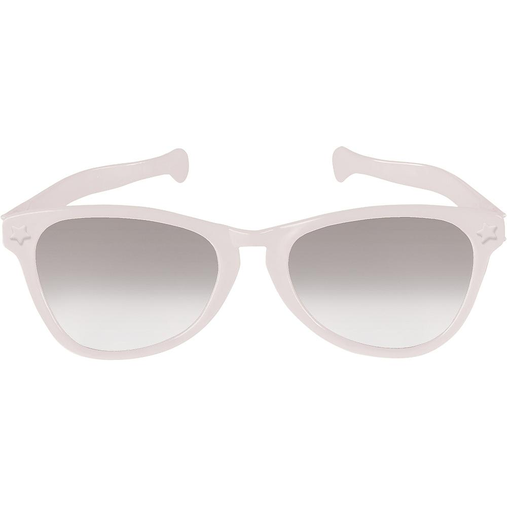 White Giant Fun Glasses Image #1