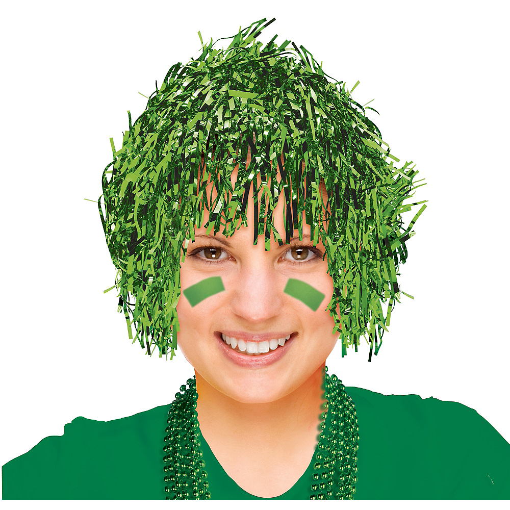 Nav Item for Green Tinsel Wig Image #1
