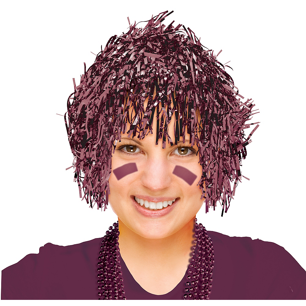 Berry Tinsel Wig Image #1