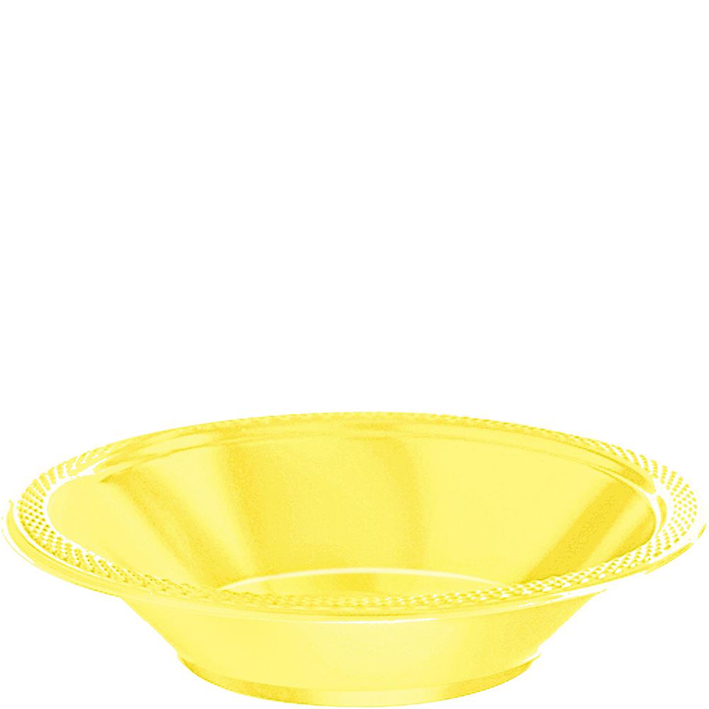 Light Yellow Plastic Bowls 20ct Image #1