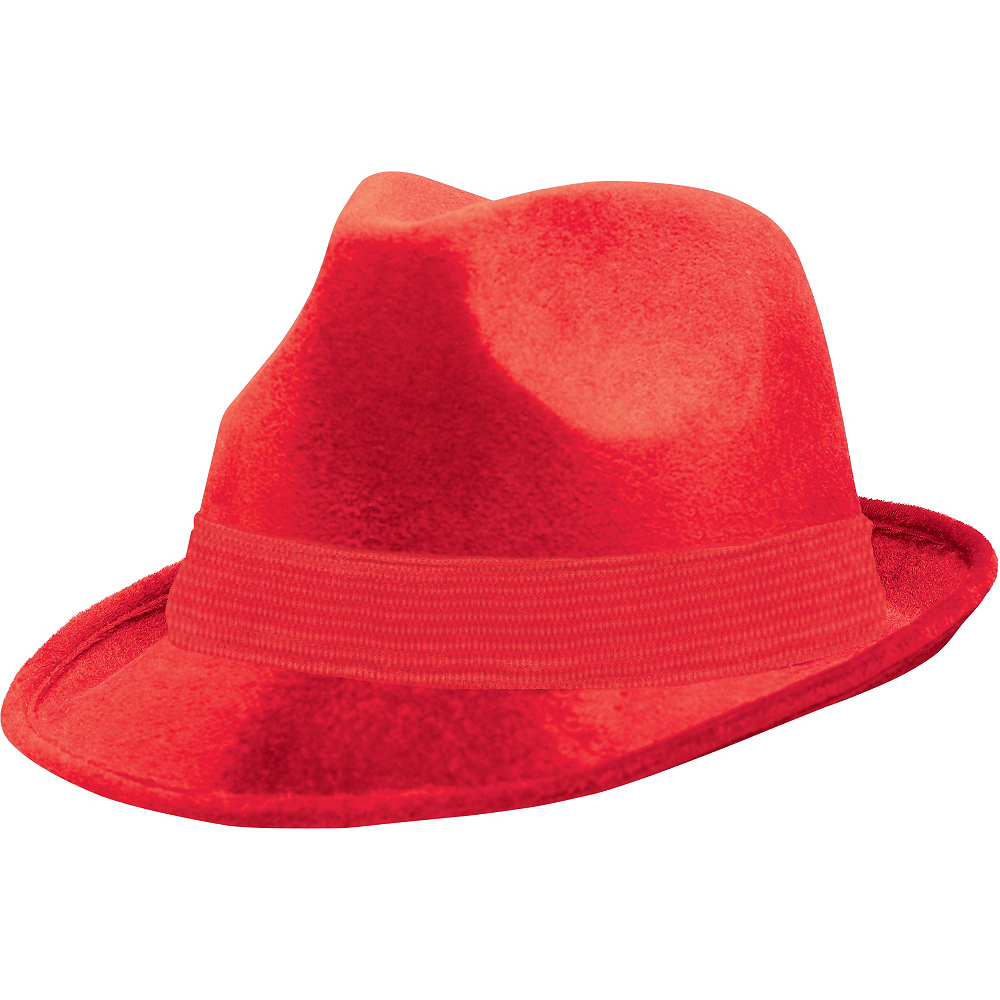 Nav Item for Red Suede Fedora Image #1