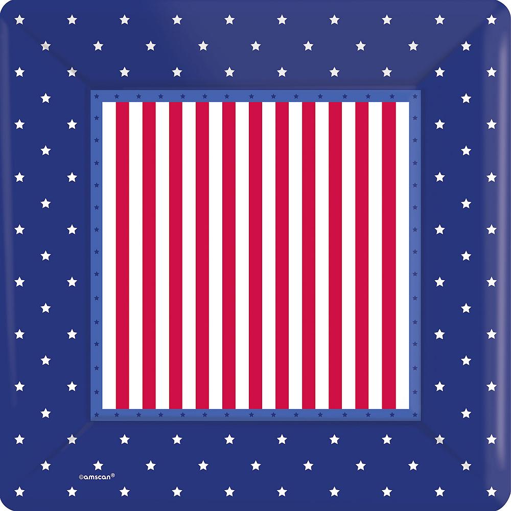 American Classic Patriotic Dinner Plates 8ct Image #1