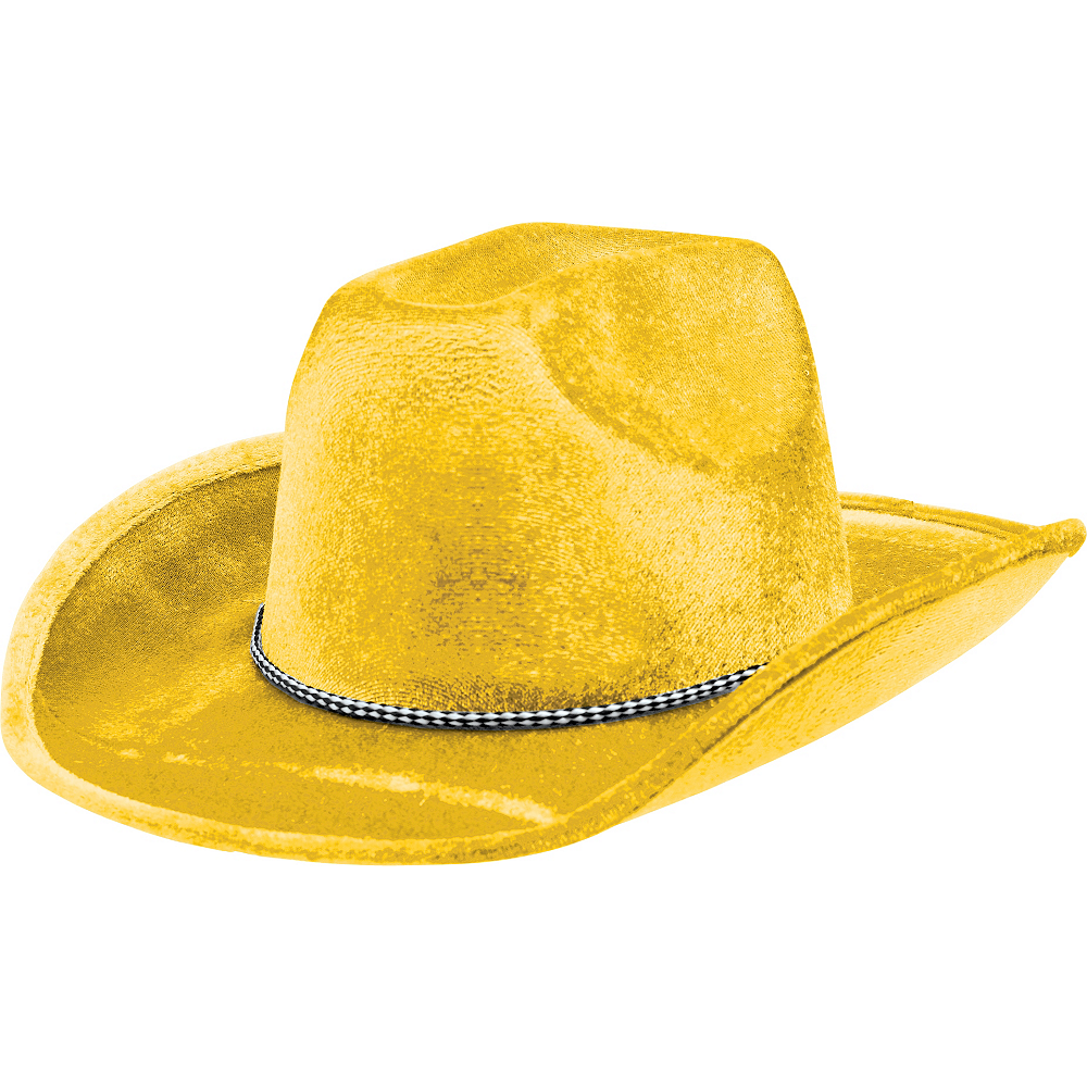 Yellow Suede Cowboy Hat Image  1 2868b58a273