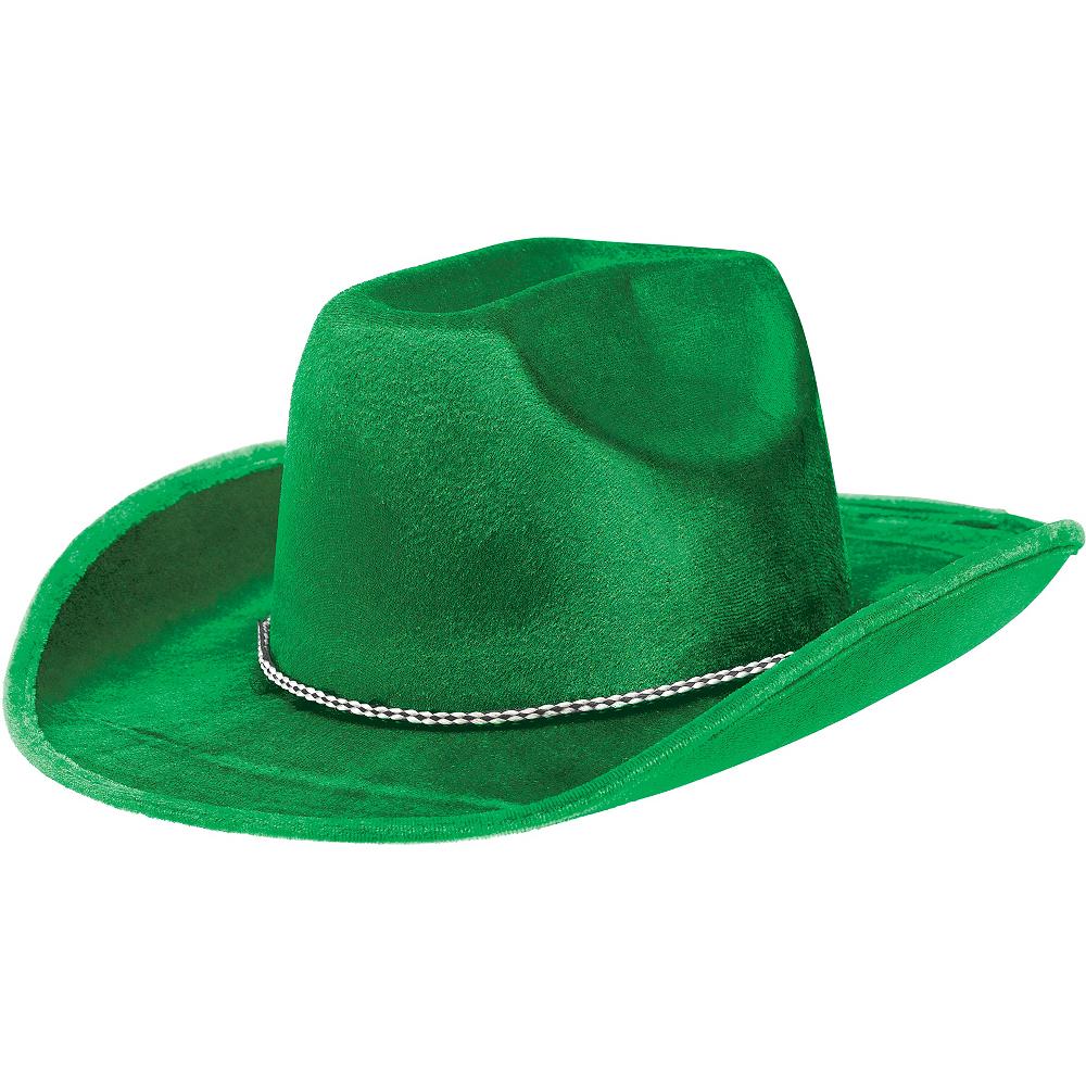 Green Suede Cowboy Hat Image #1