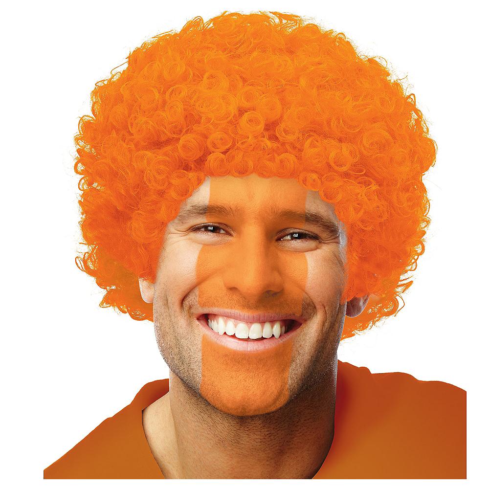 Orange Afro Wig Image #1
