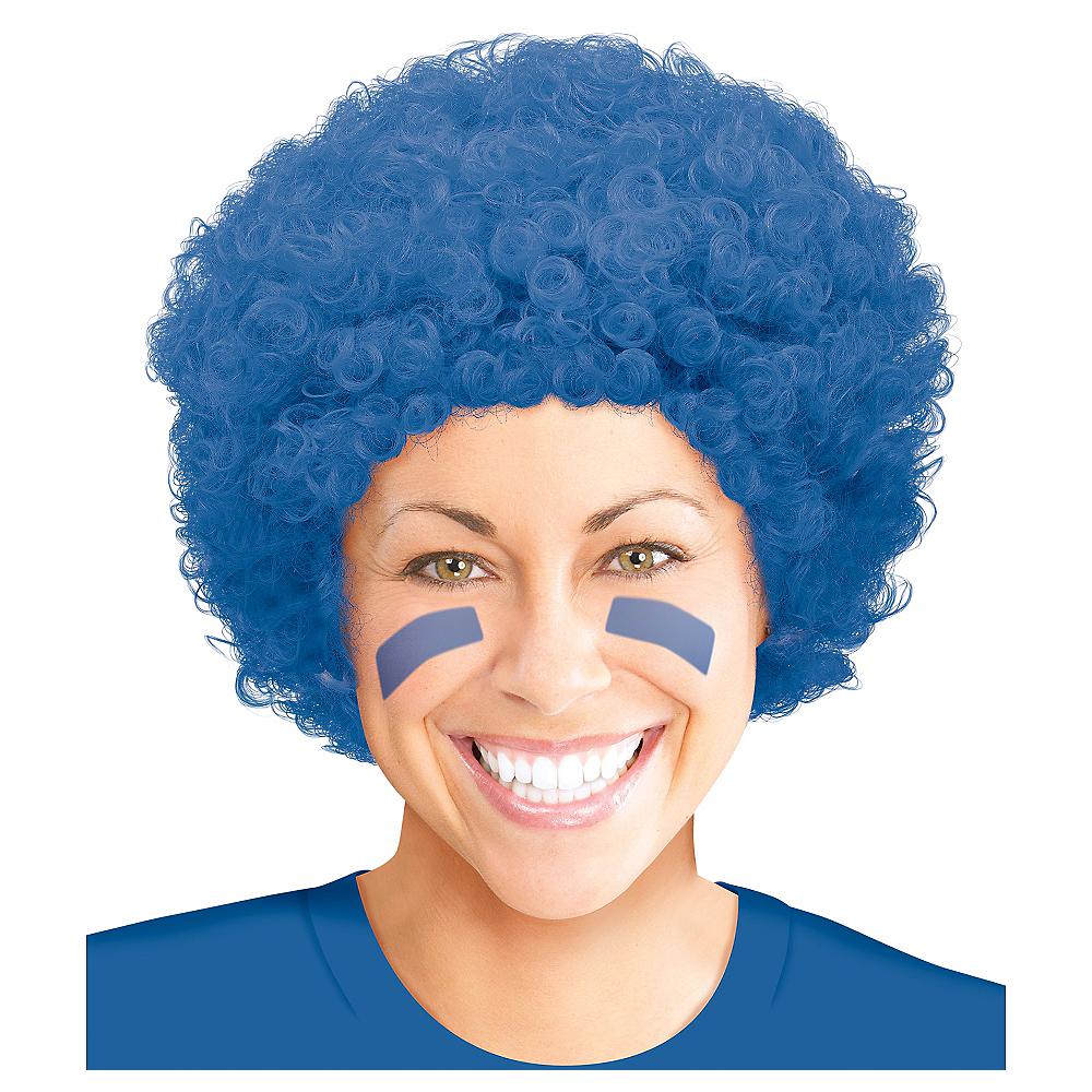 Blue Afro Wig Image #1