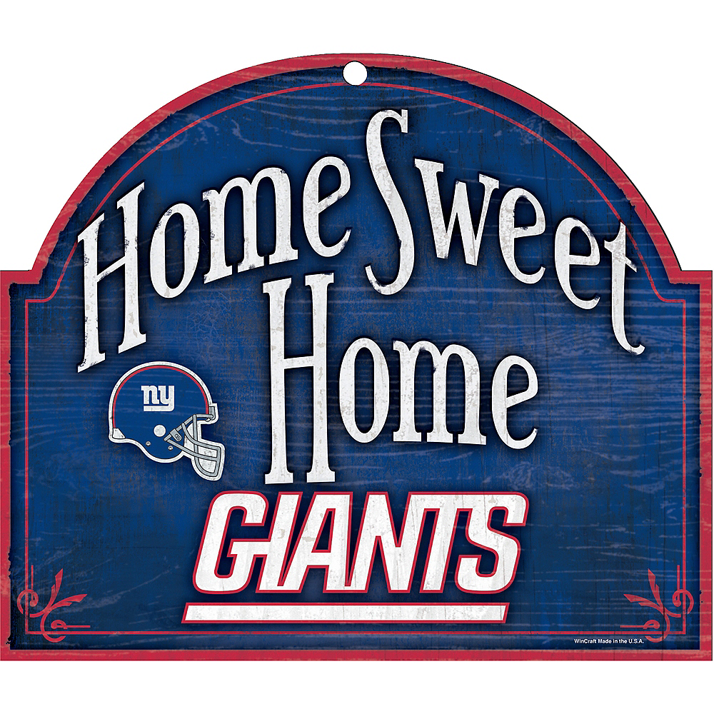 New York Giants Wooden Sign Image #1