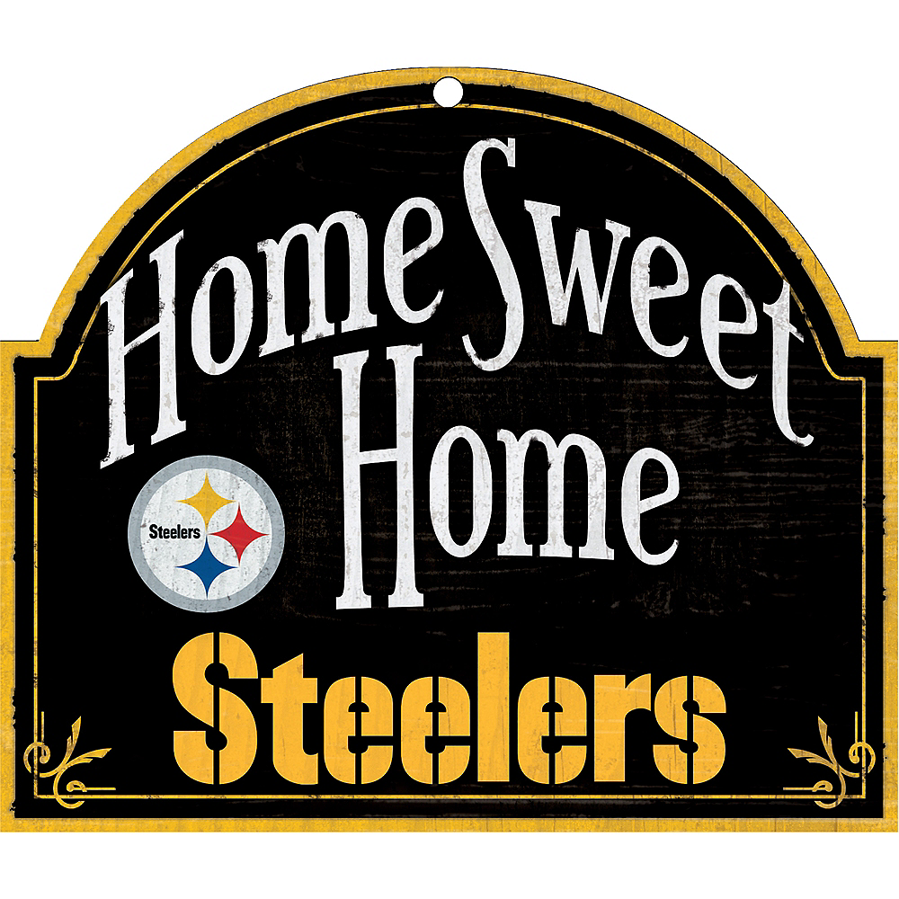 Nav Item for Pittsburgh Steelers Wooden Sign Image #1
